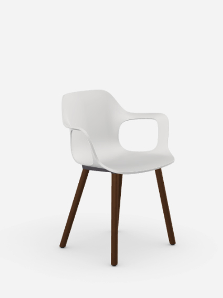 HAL Armchair – Walnut – White
