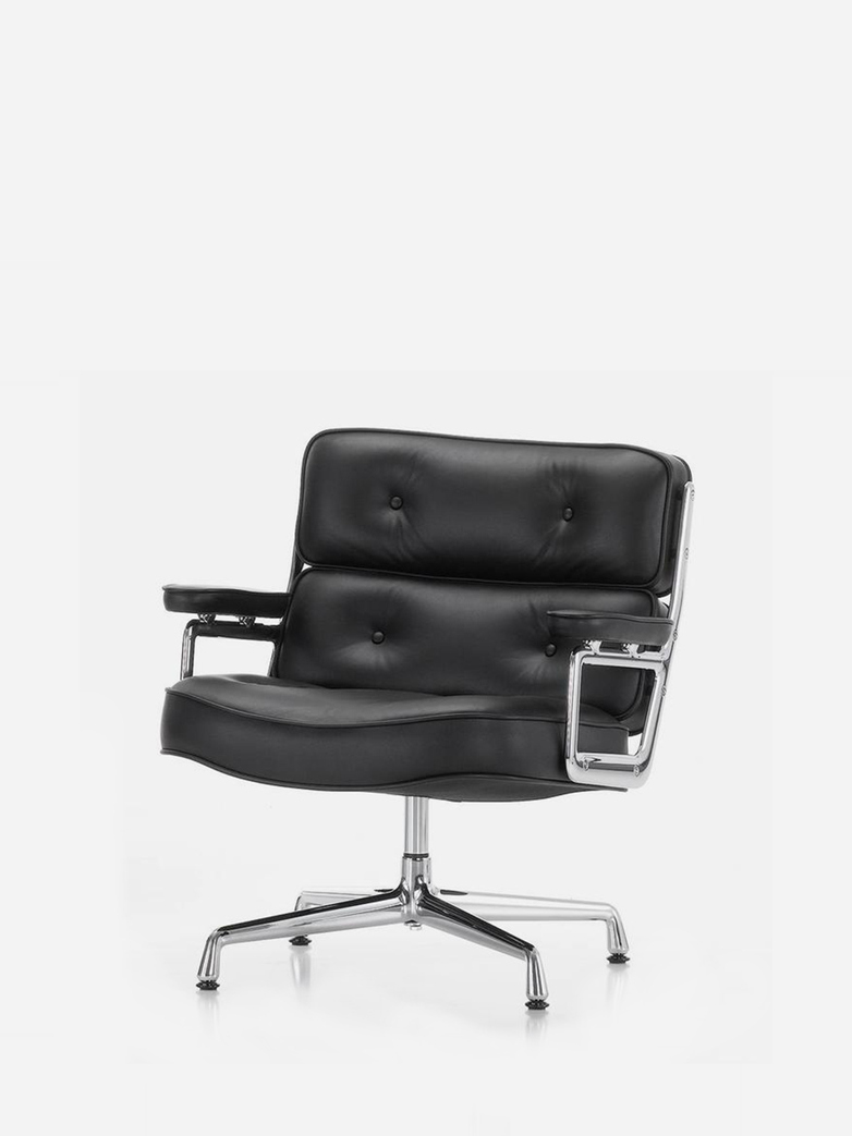 Lobby Chair EA 105 – Leather – Black