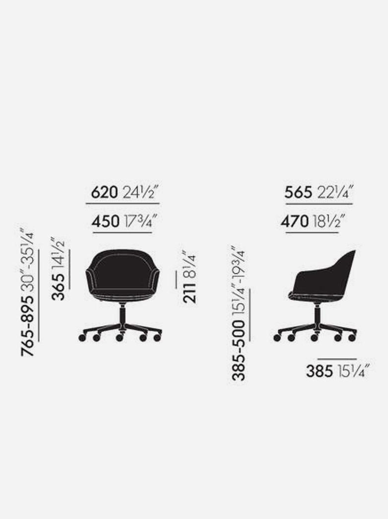 Softshell Chair – Chrome – Fourstar Base with Castor – Twill Light Grey