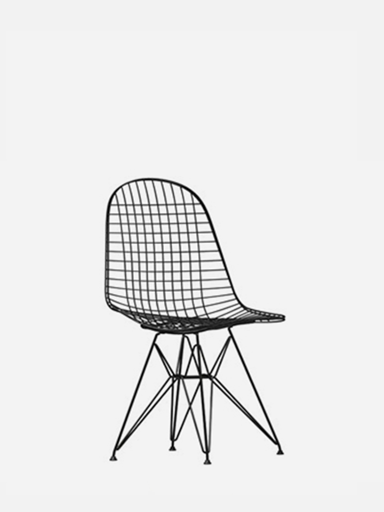 Wire Chair DKR – Black