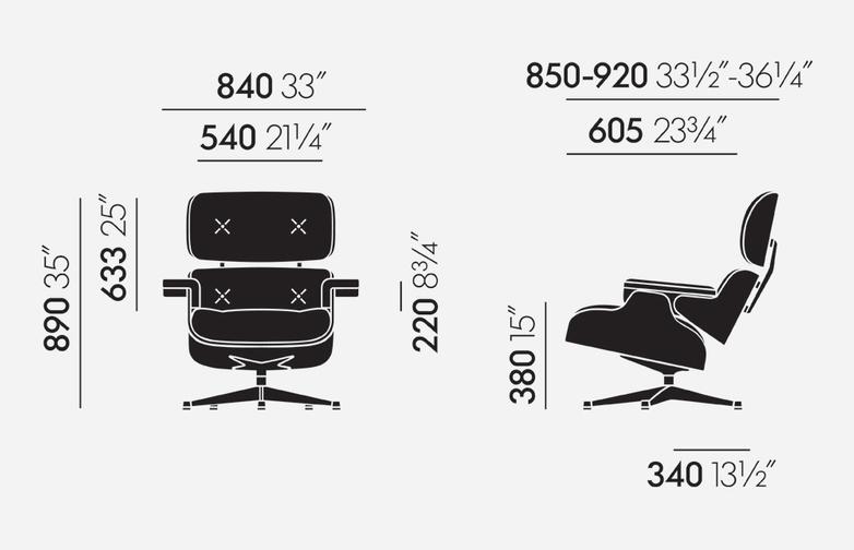Lounge Chair – Chromed – American Cherry