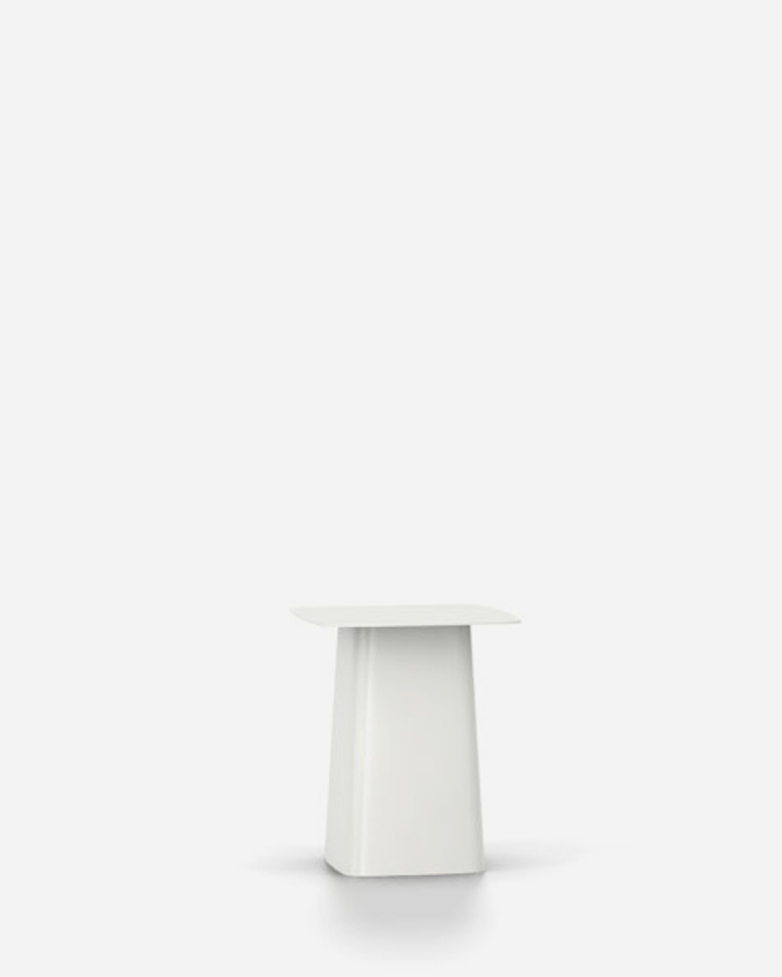 Metal Side Table – White – Small