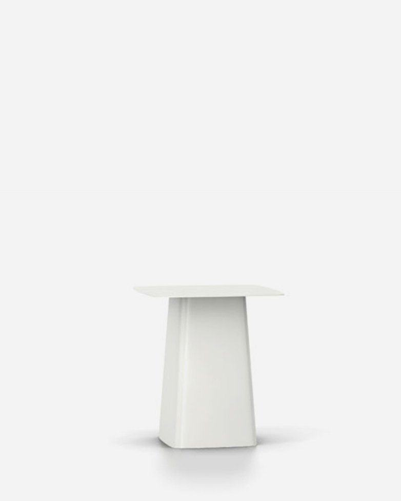 Metal Side Table – White – Medium