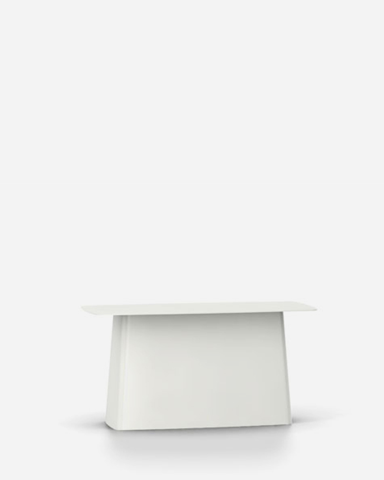 Metal Side Table – White – Large