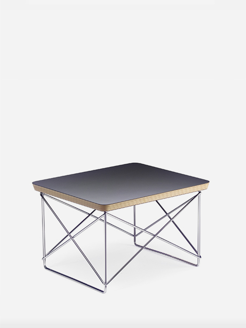 Occasional Table LTR – Chrome Base – Black