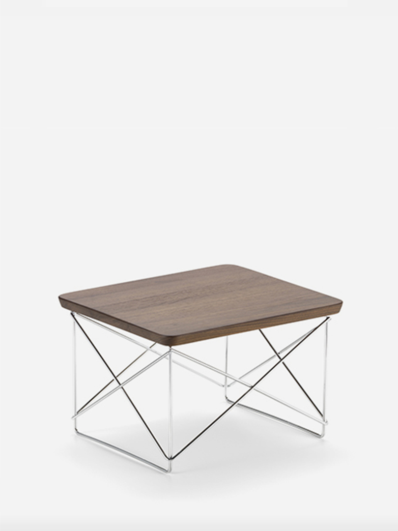Occasional Table LTR – Chrome Base – Walnut