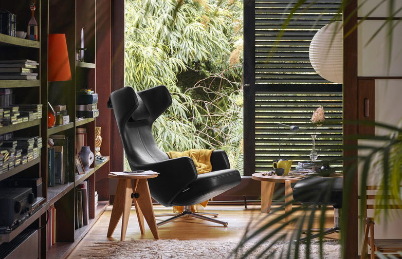 Tabouret Solvay – Smoked Oak