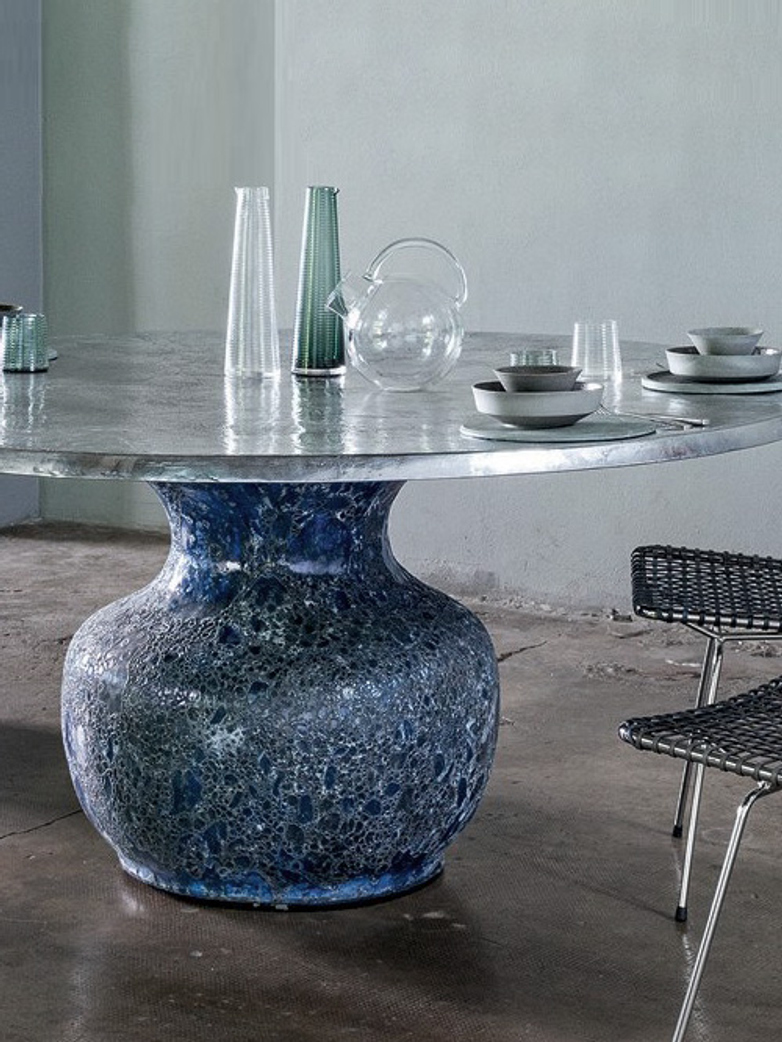 Moon 34 Dining Table – Aluminium – Ø130