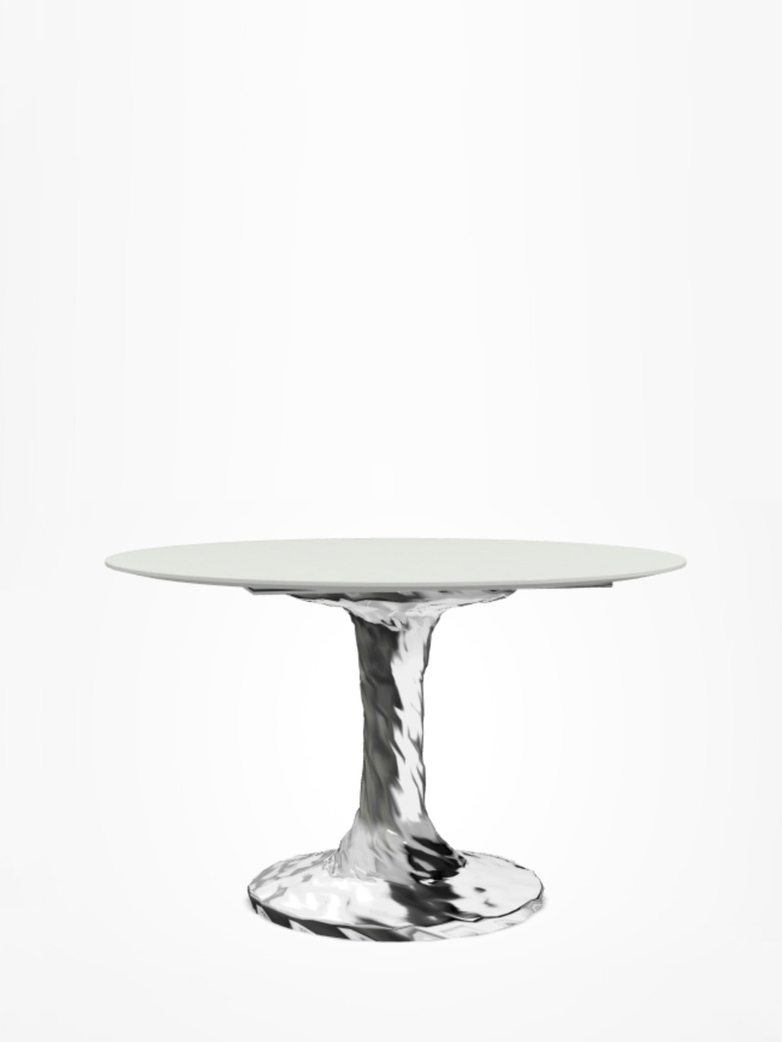 Next 132 Round Table – White – Ø120