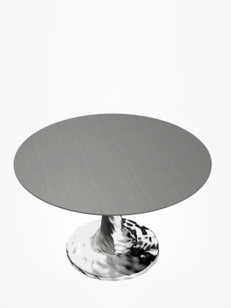 Next 132 Round Table – Grey – Ø120