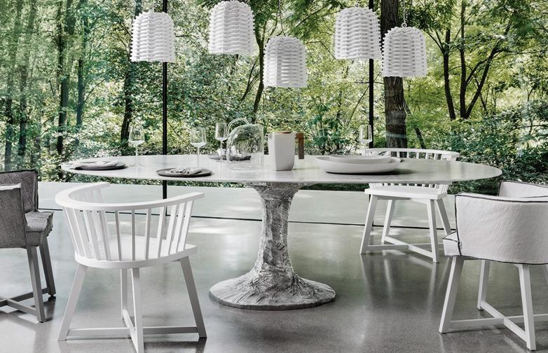 Next 137 Oval Table – Grey – 240 cm