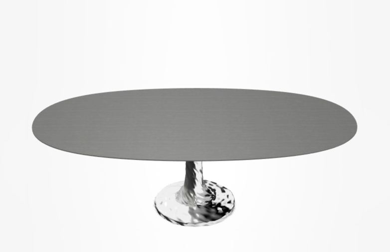 Next 137 Oval Table – Grey – 240 cm