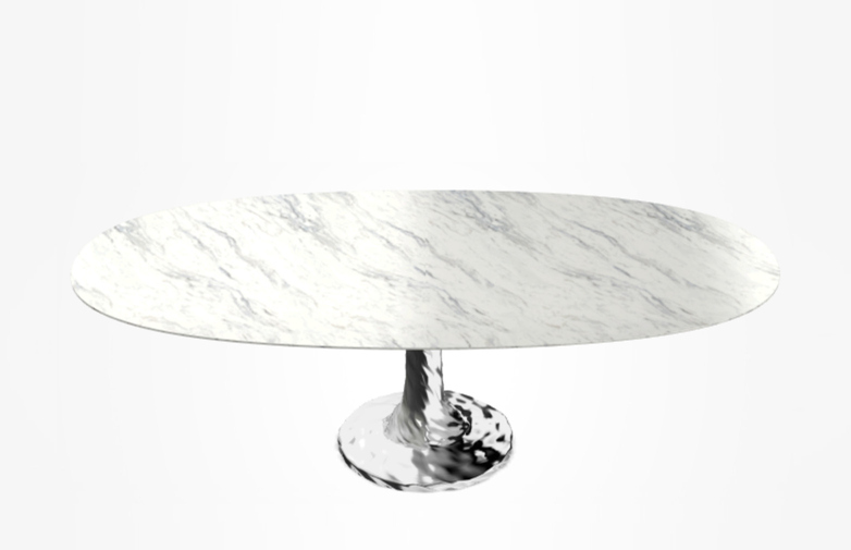 Next 137 Oval Table – Marble – 240 cm