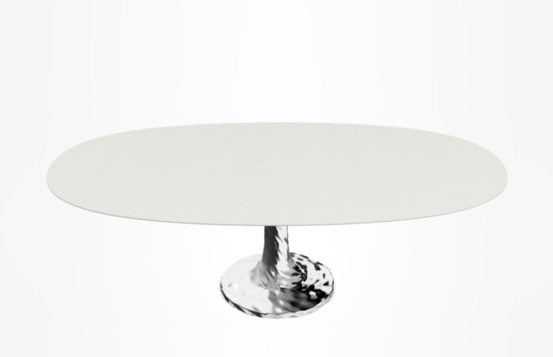 Next 138 Oval Table – White – 200 cm
