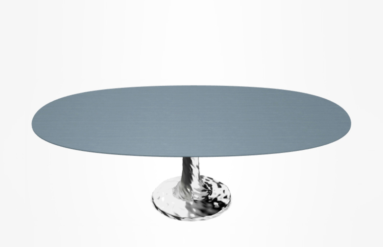 Next 138 Oval Table – Blue – 200 cm