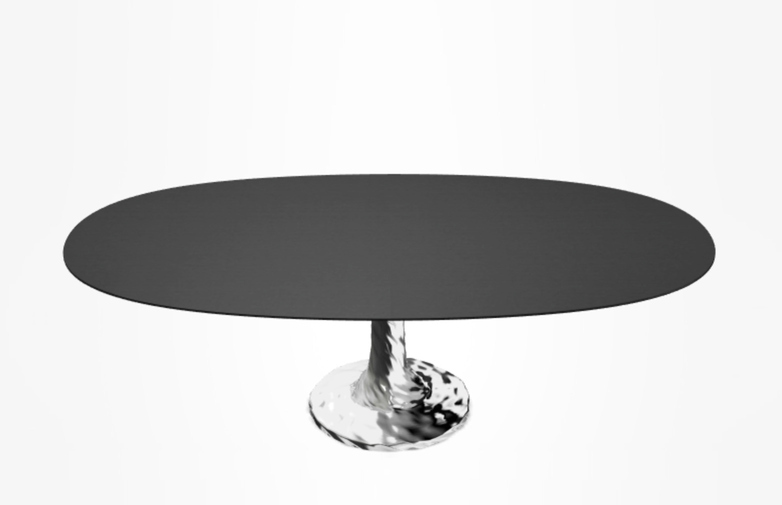 Next 138 Oval Table – Black – 200 cm
