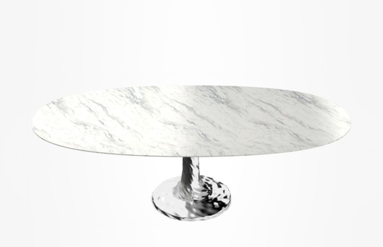 Next 138 Oval Table – Marble – 200 cm