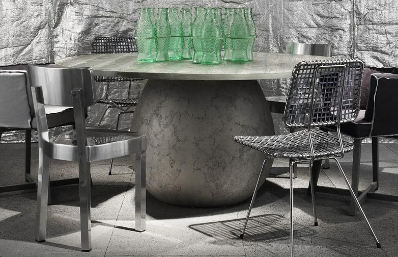 Next 232 Round Table – Glossy Grey – Ø140
