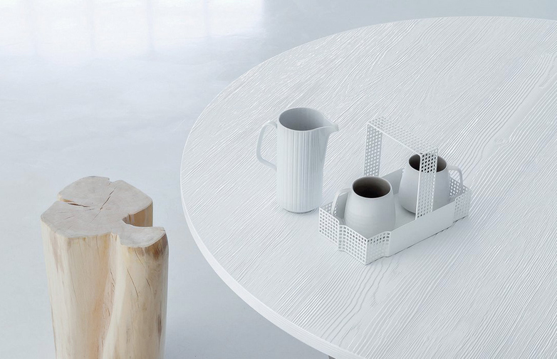 Next 236 Round Table – White Lacquered – Ø160