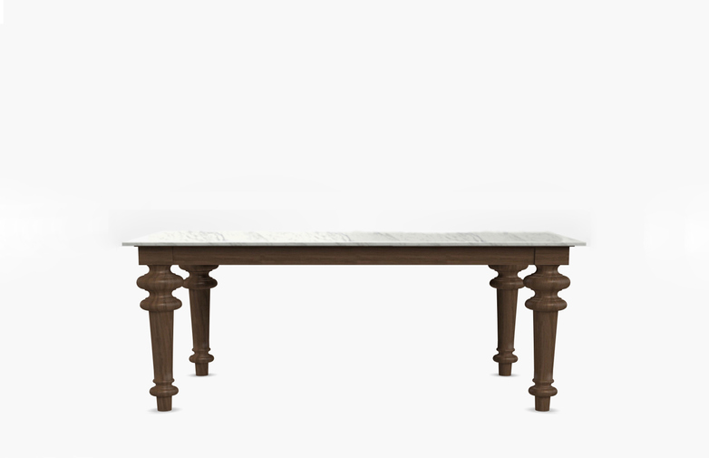 Gray 35 Rectangular Table – Marble – 160