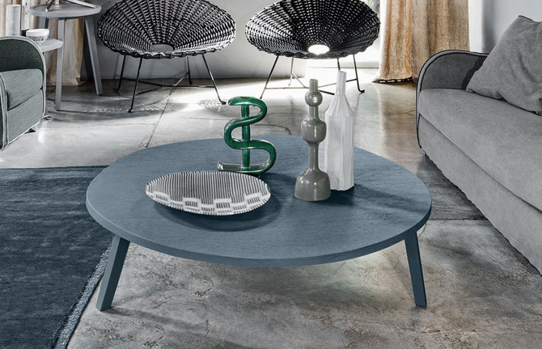 Gray 46 Coffee Table – Blue – Ø130