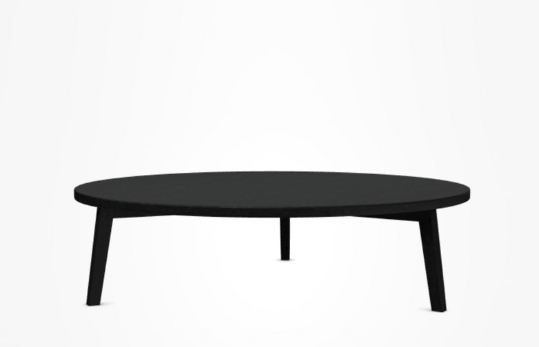 Gray 46 Coffee Table – Black – Ø130