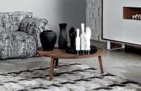 Gray 49 Coffee Table – Walnut – Ø100