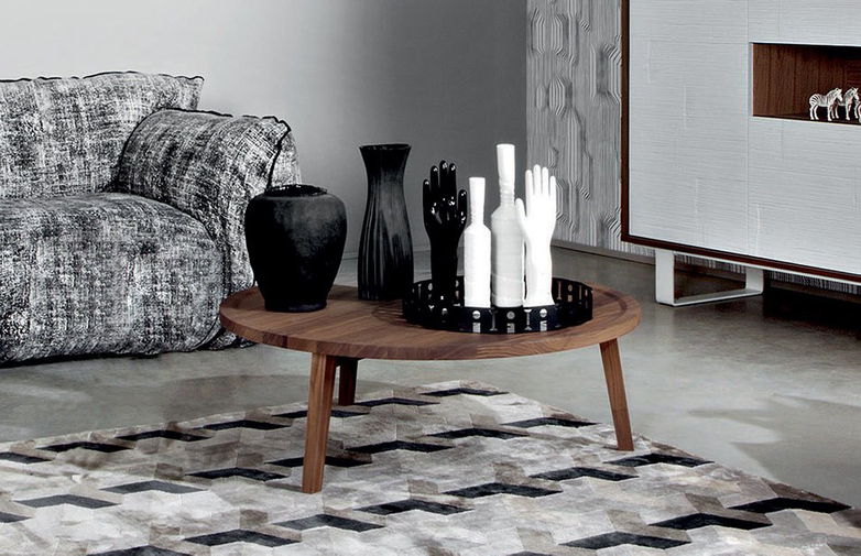 Gray 49 Coffee Table – Walnut – Ø100