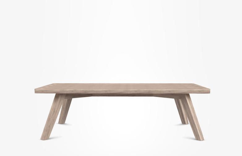 Gray 57 Coffee Table – Bleached Oak – 120