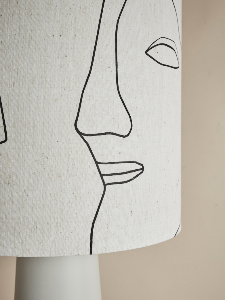 Cone Lamp Printed Faces