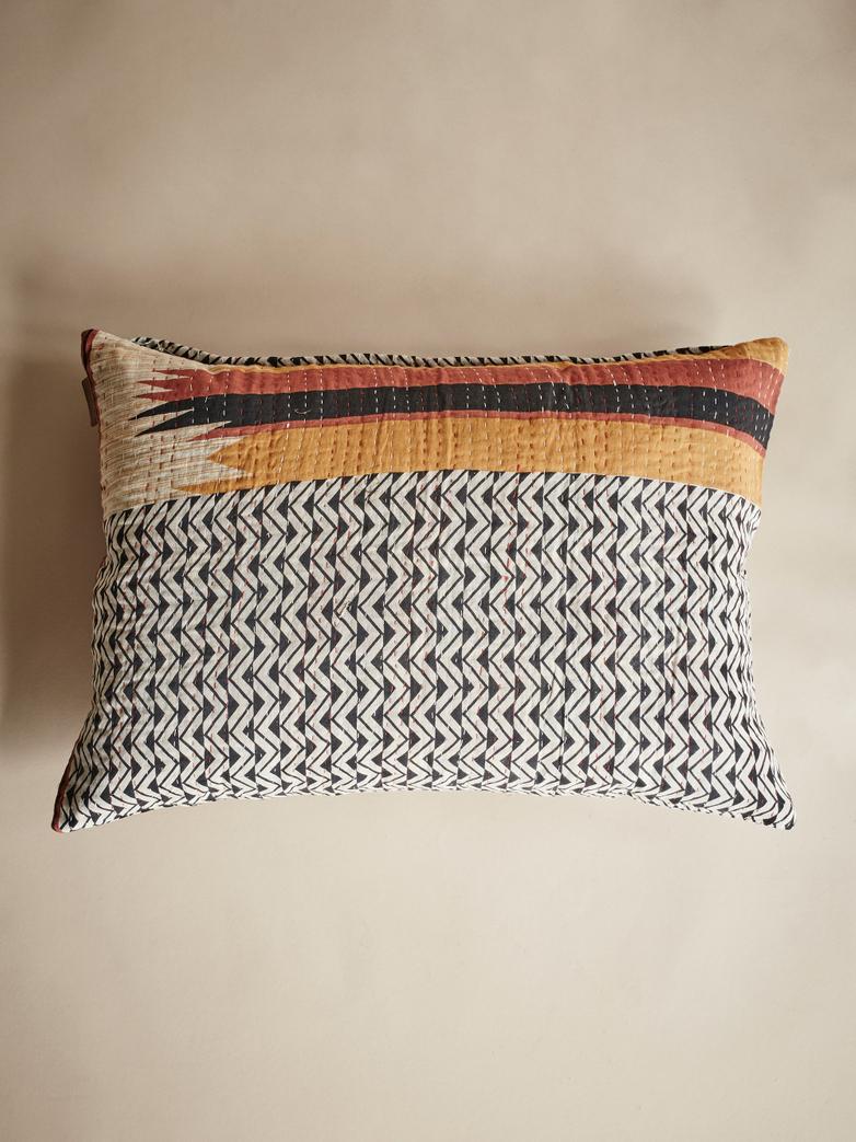 Sari Kantha – Aztec Orange – 50 x 70