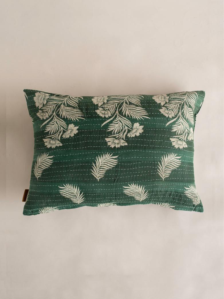 Sari Kantha – Green – 50 x 70