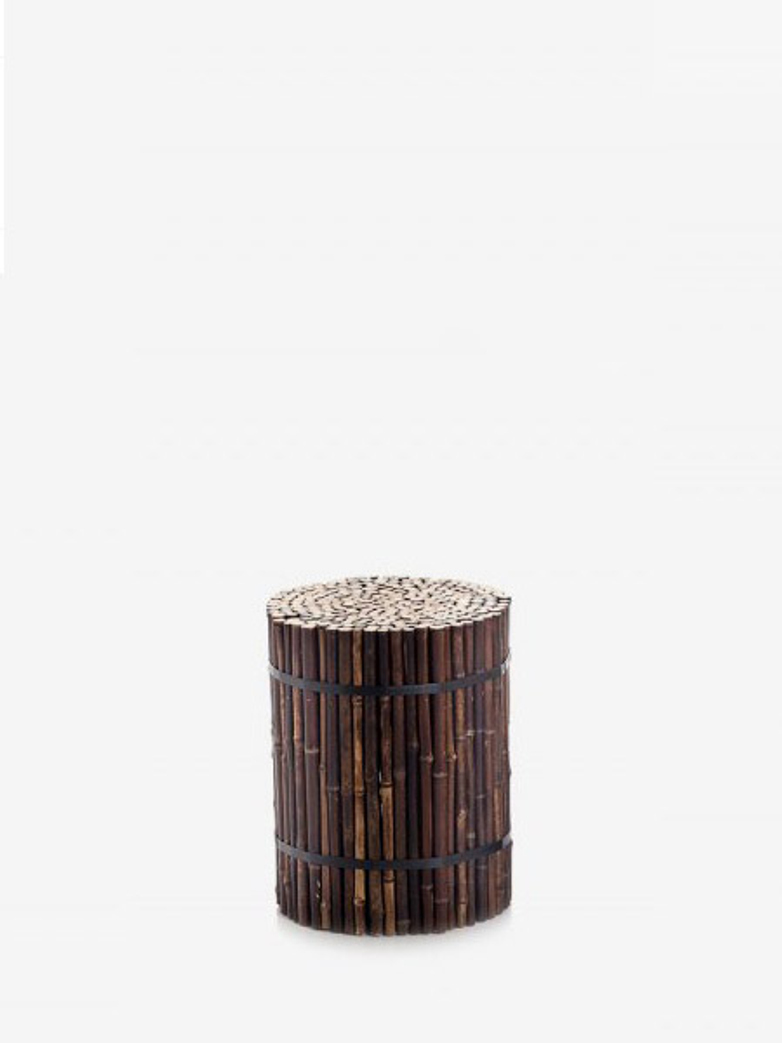 Black 19 Bamboo Stool