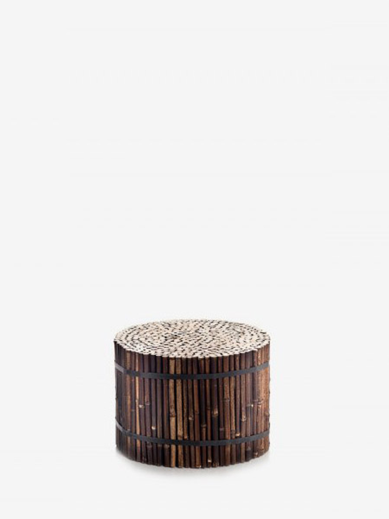 Black 21 Bamboo Stool
