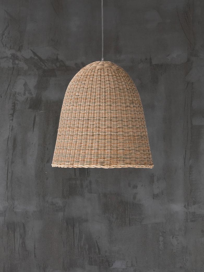 Bell 95 Hanging Lamp – Rattan