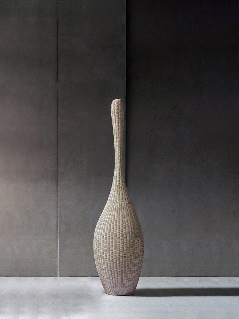 Bolla S Standing Lamp – Natural Rattan