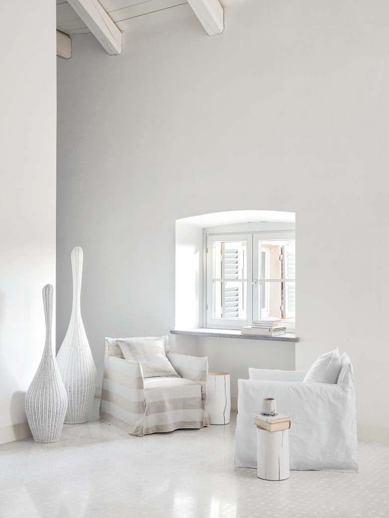 Bolla S Standing Lamp – White