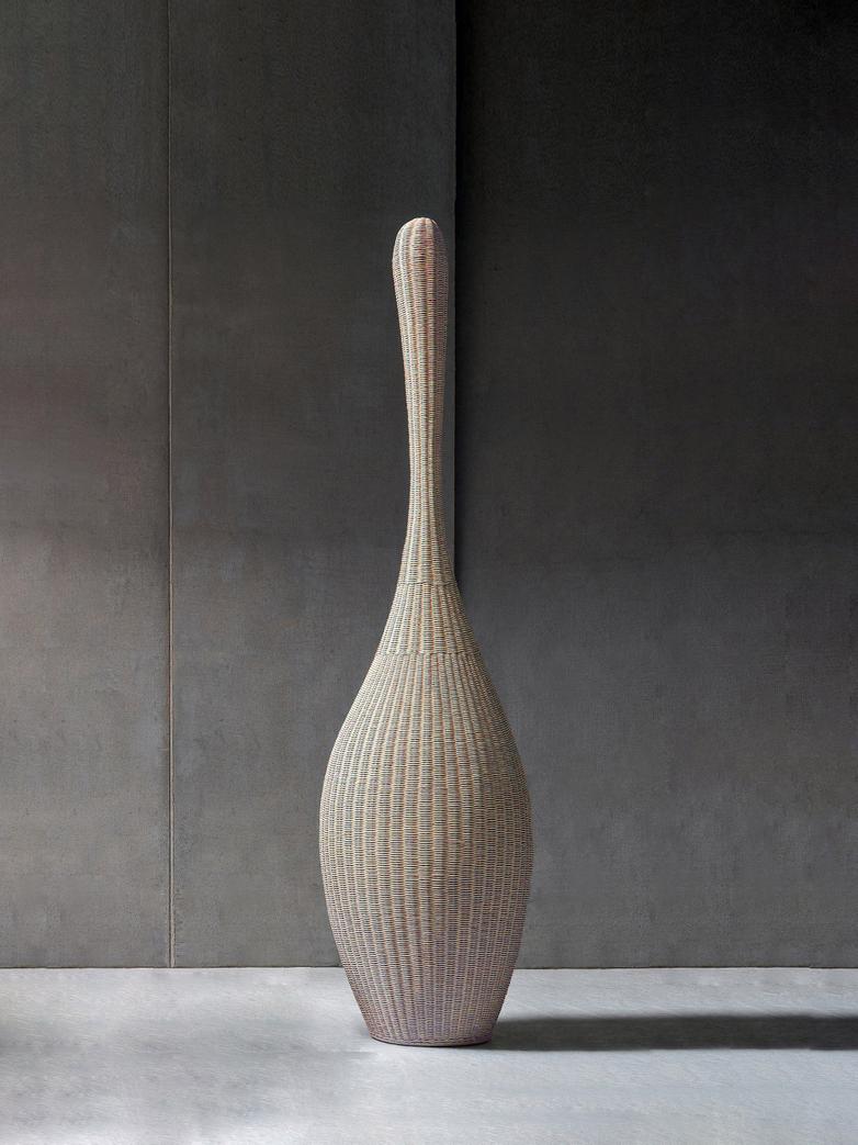 Bolla L Standing Lamp – Natural Rattan