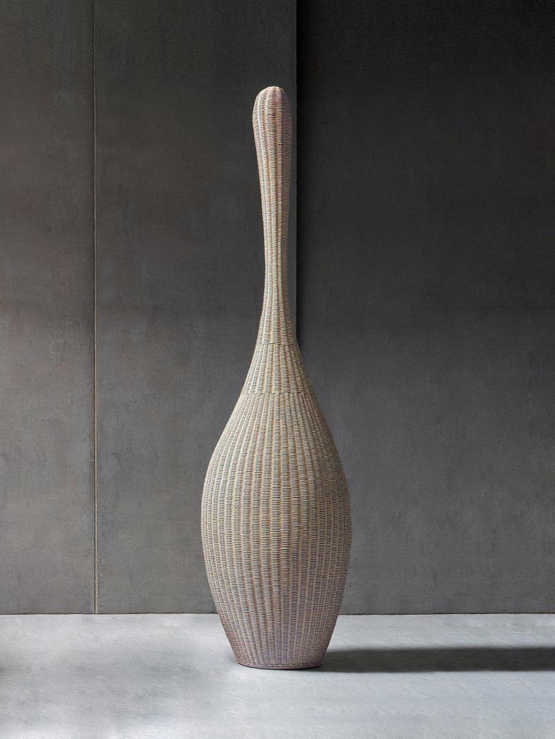 Bolla XL Standing Lamp – Natural Rattan