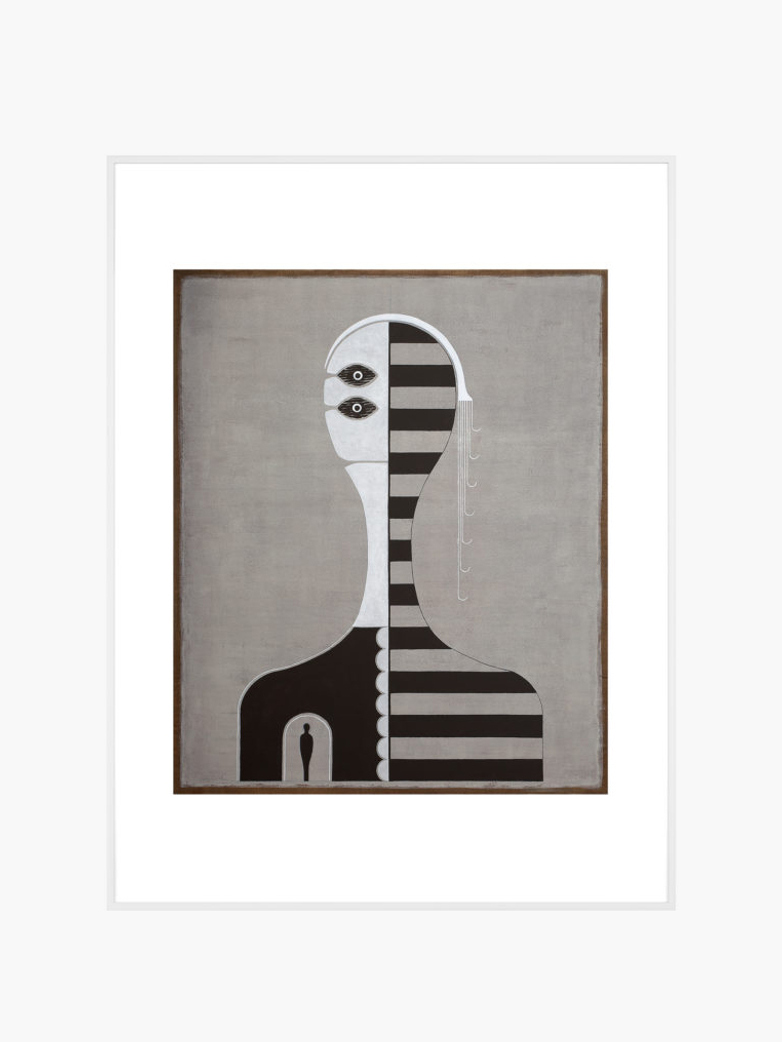 Untitled (Striped Portrait) – 60 x 80 – Hector Frank