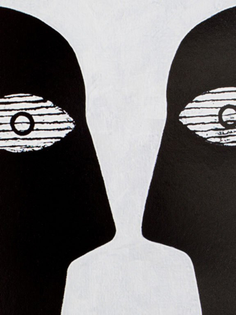Untitled (Black Reverse Portrait) – 95 x 130 – Hector Frank
