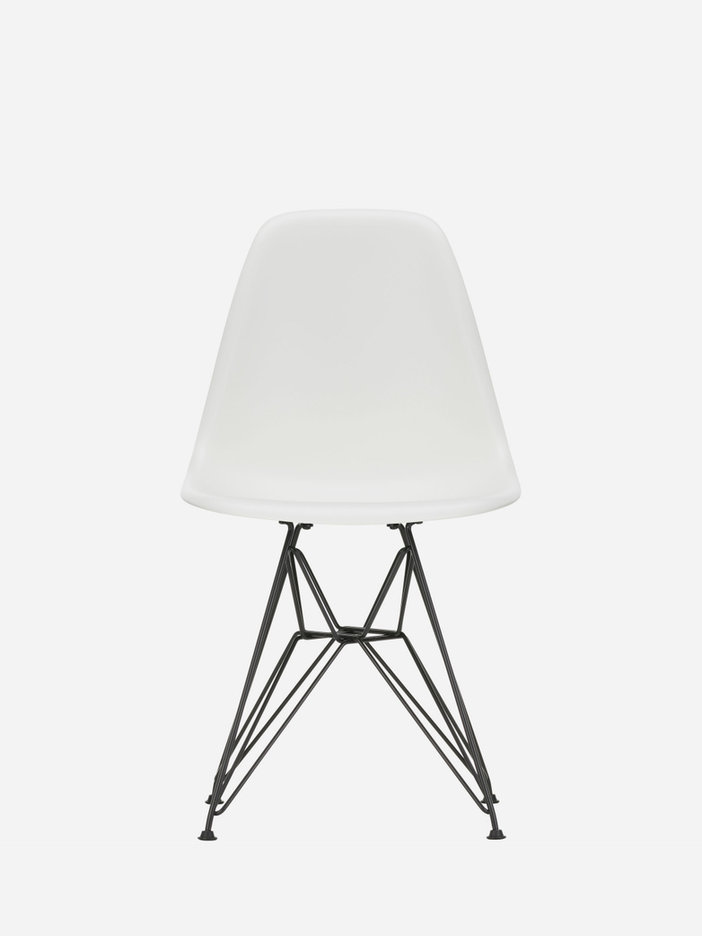 Eames Plastic Chair – DSR – White – Black