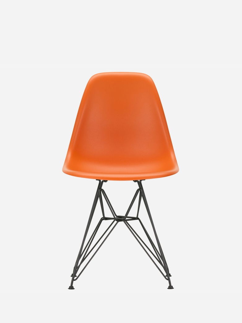 Eames Plastic Chair – DSR – Rusty Orange – Black