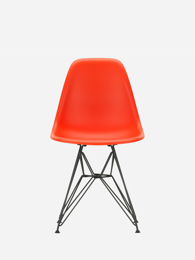 Eames Plastic Chair – DSR – Poppy Red – Black