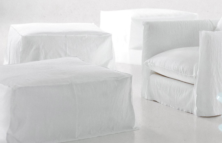 Ghost 08 Ottoman – Category B – Natural Lino Bianco