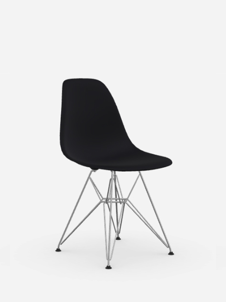 Vitra - Eames Plastic Chair – DSR – Black – Chrome