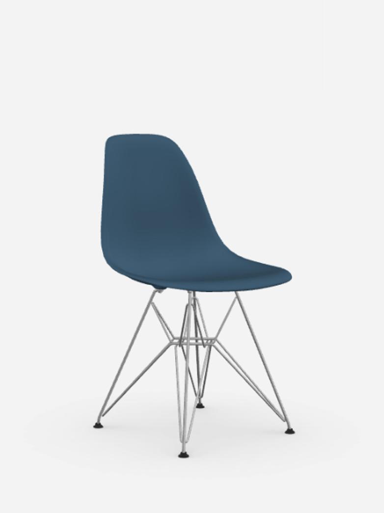 Eames Plastic Chair – DSR – Sea Blue – Chrome