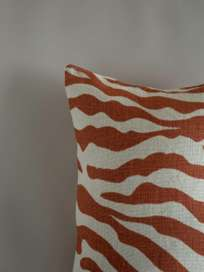 Zebra – Apricot Orange – 40 x 60 cm