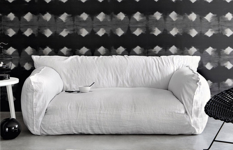 Nuvola 10 Sofa – Category B – Natural Lino Bianco – 220