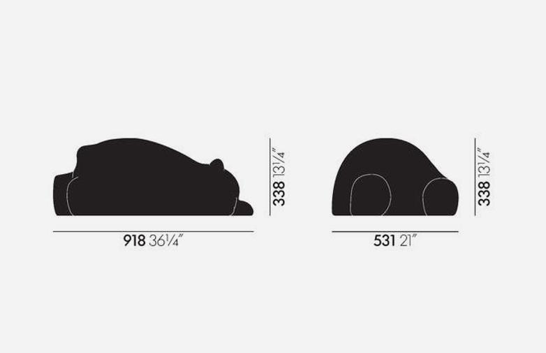 Resting Bear – Mauve